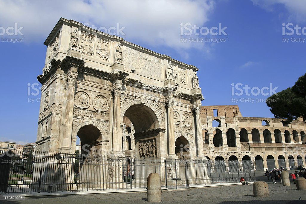 Arch Of Constantine, Rome Italy stock photo