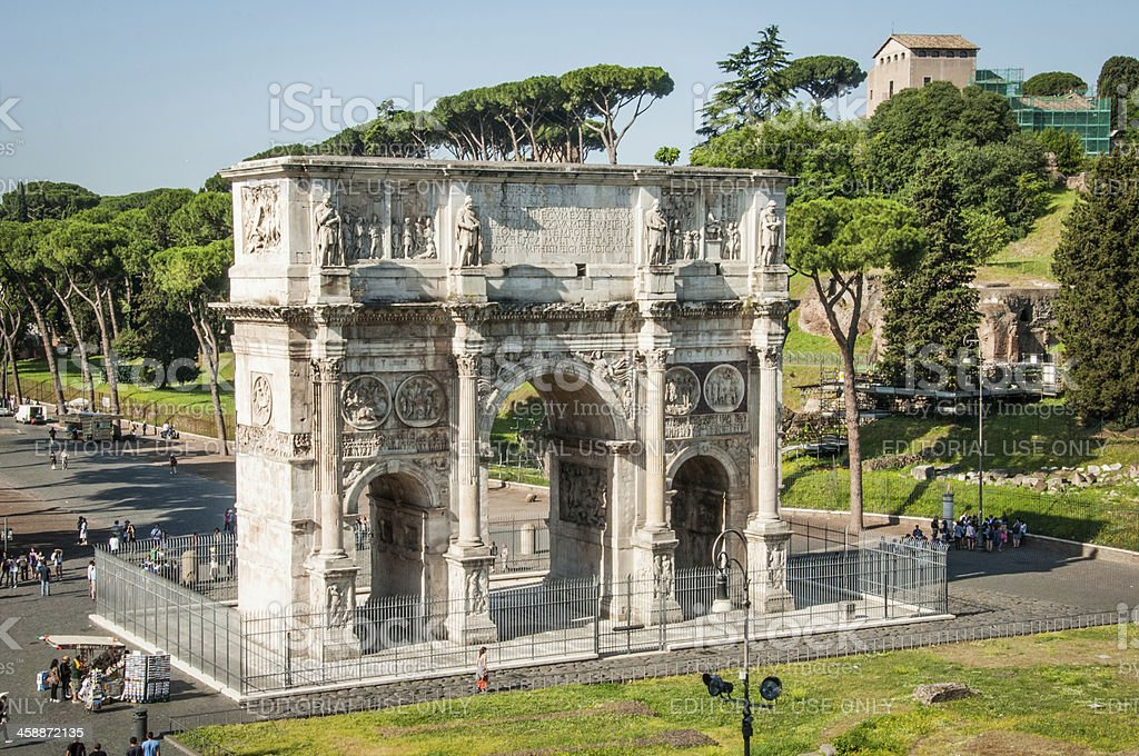 Arch of Constantine, Rome, Italy royalty-free stock photo