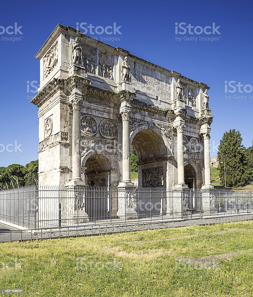 Arch of Constantine. Rome. Italy. stock photo