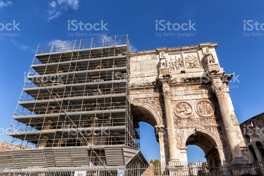 Arch of Constantine. Rome. Italy stock photo