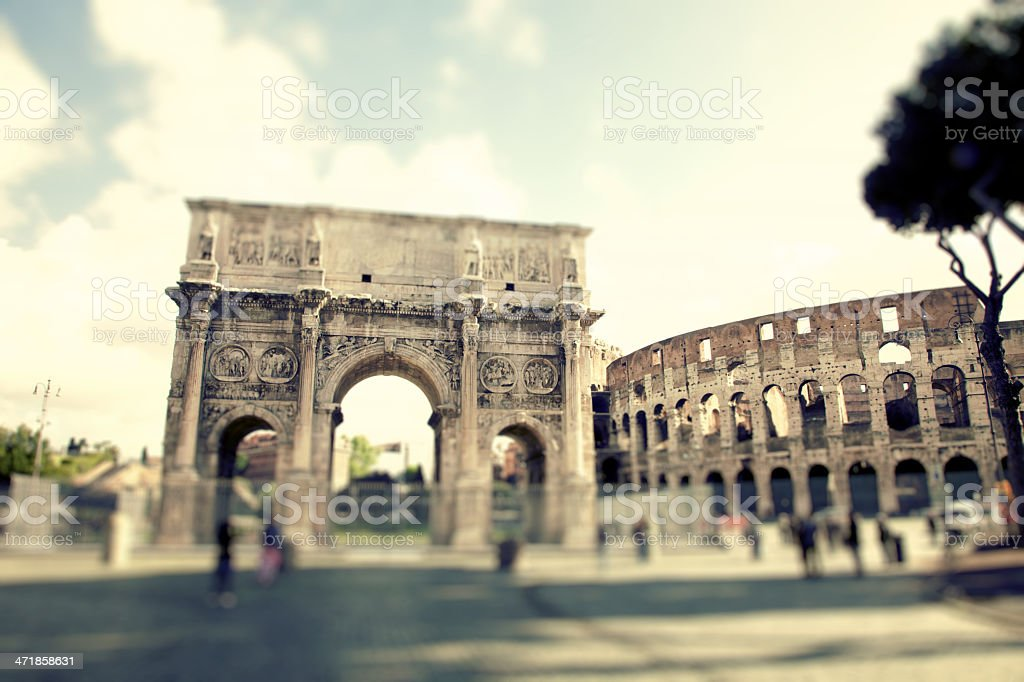 Arch Of Constantine. Rome royalty-free stock photo