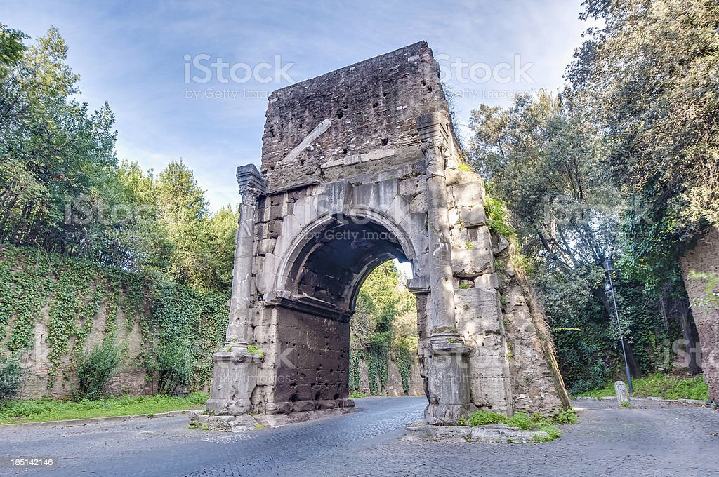 Arch of Drusus in Rome, italy royalty-free stock photo