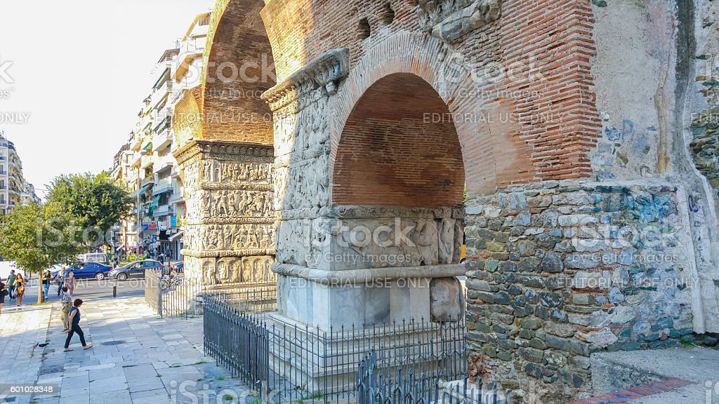 Arch of Galerius, Thessaloniki, Macedonia, Greece stock photo