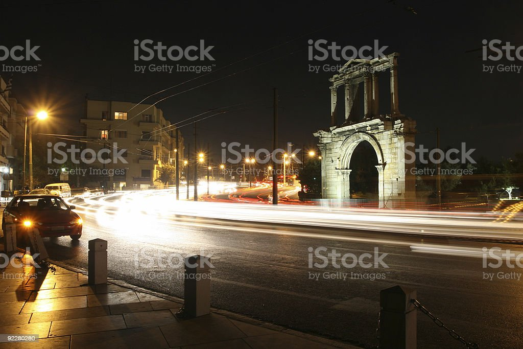 Arch of Hadrian royalty-free stock photo