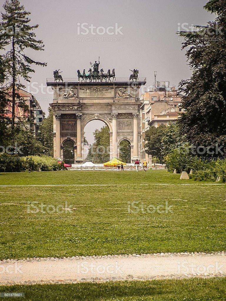 Arch of Peace - Milan, Italy stock photo