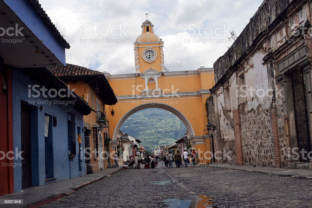 Arch of Santa Catarina, Antigua, Guatemala stock photo