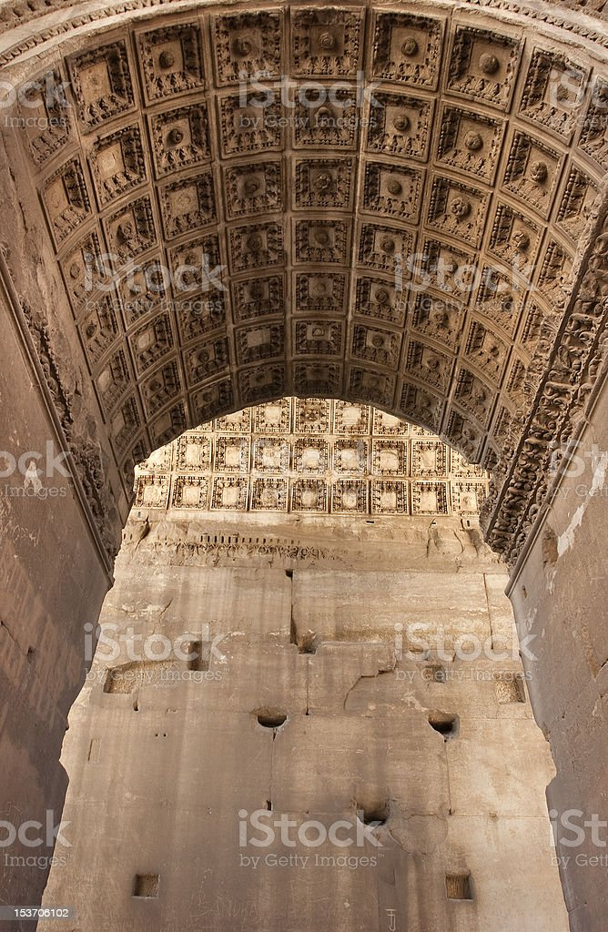 Arch of Septimius Severus in The Roman Forum royalty-free stock photo