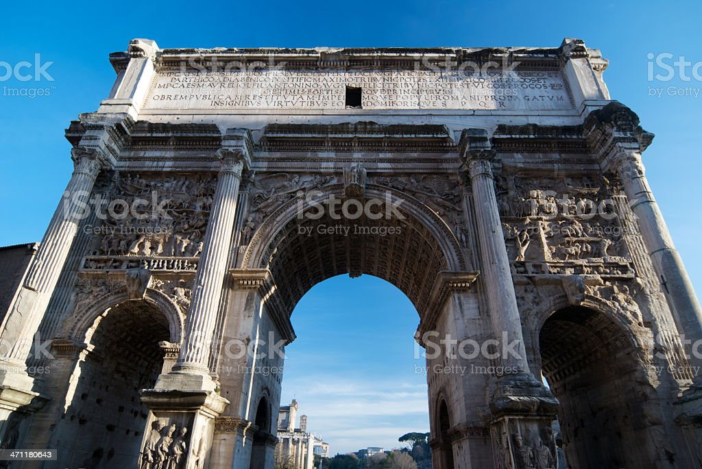 Arch Of Septimius Severus royalty-free stock photo