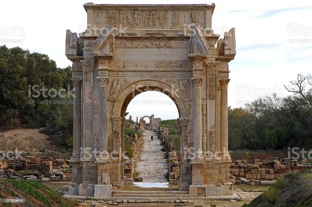 Arch of Septimus Severus stock photo