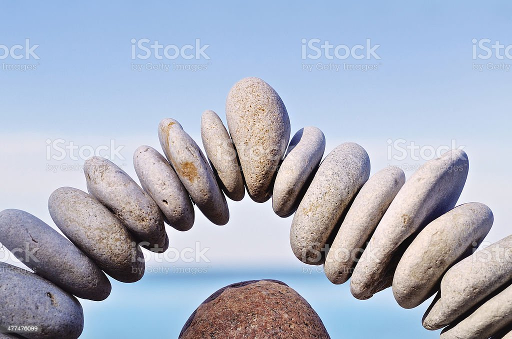 Arch of stones royalty-free stock photo