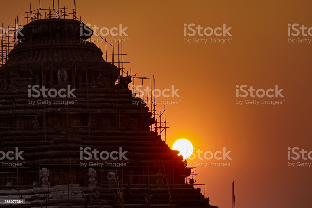 Arch of Temple of Sun Temple in India stock photo