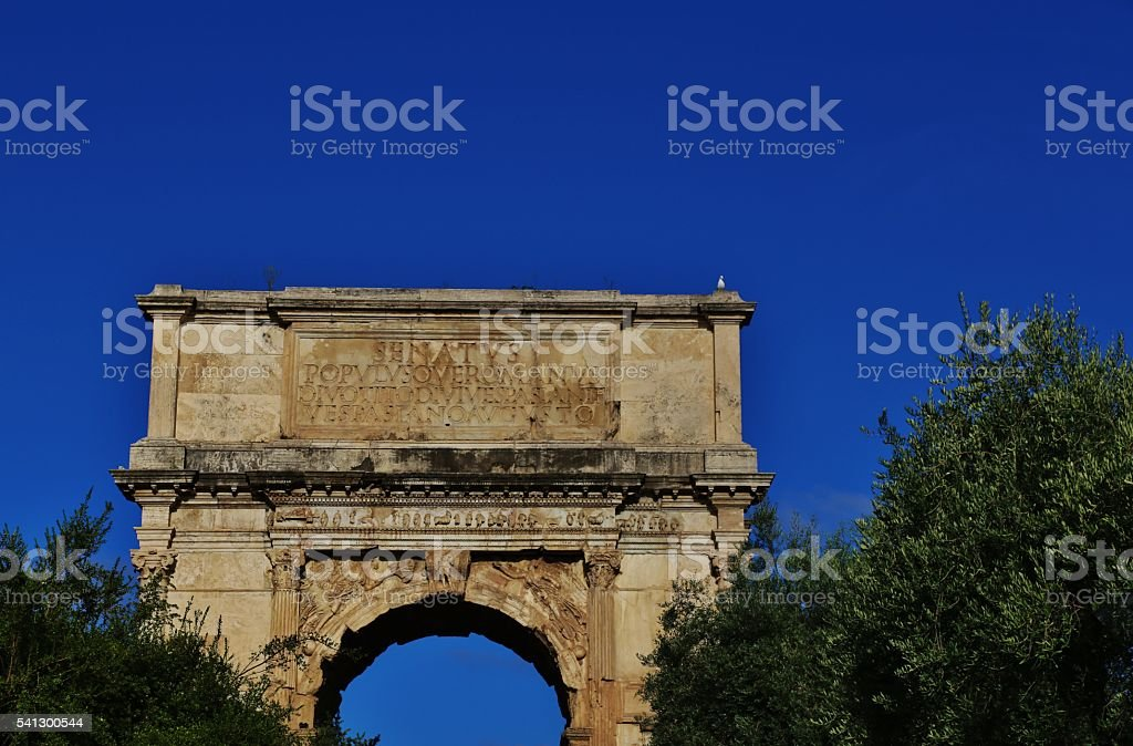 Arch of Titus  81 A.D. stock photo