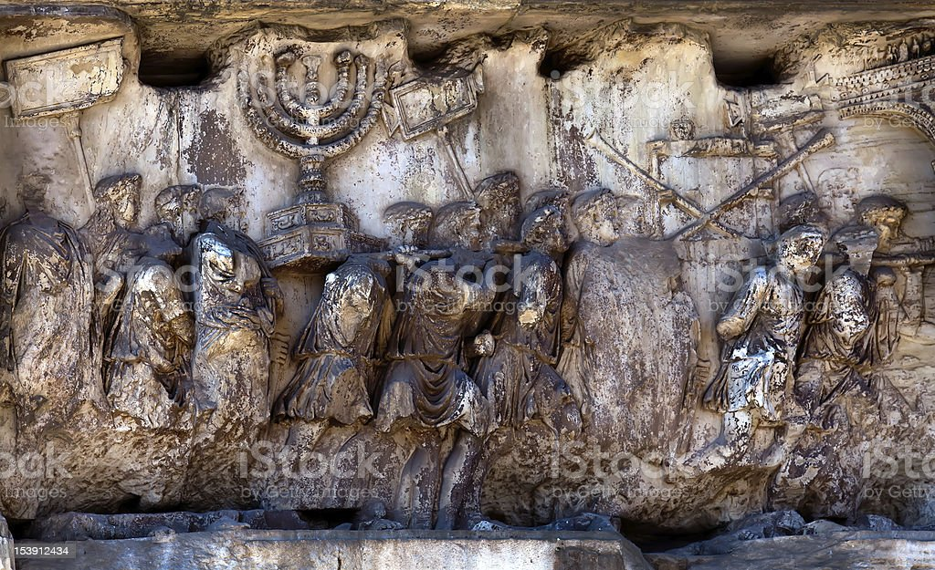 Arch of Titus at the Roman Forum stock photo