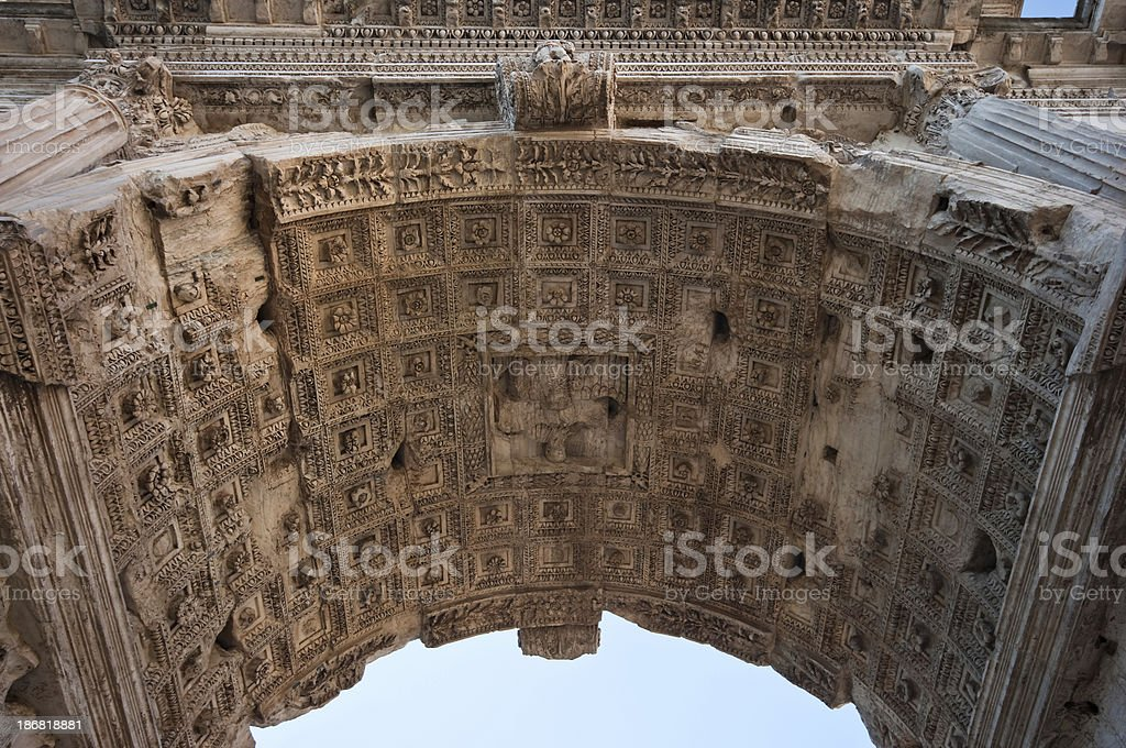 Arch of Titus detail stock photo