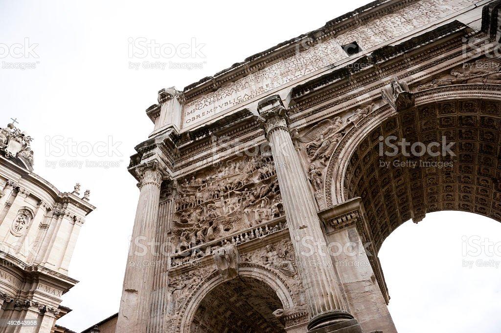 Arch of Titus, Roman Forum, Rome, Italy stock photo