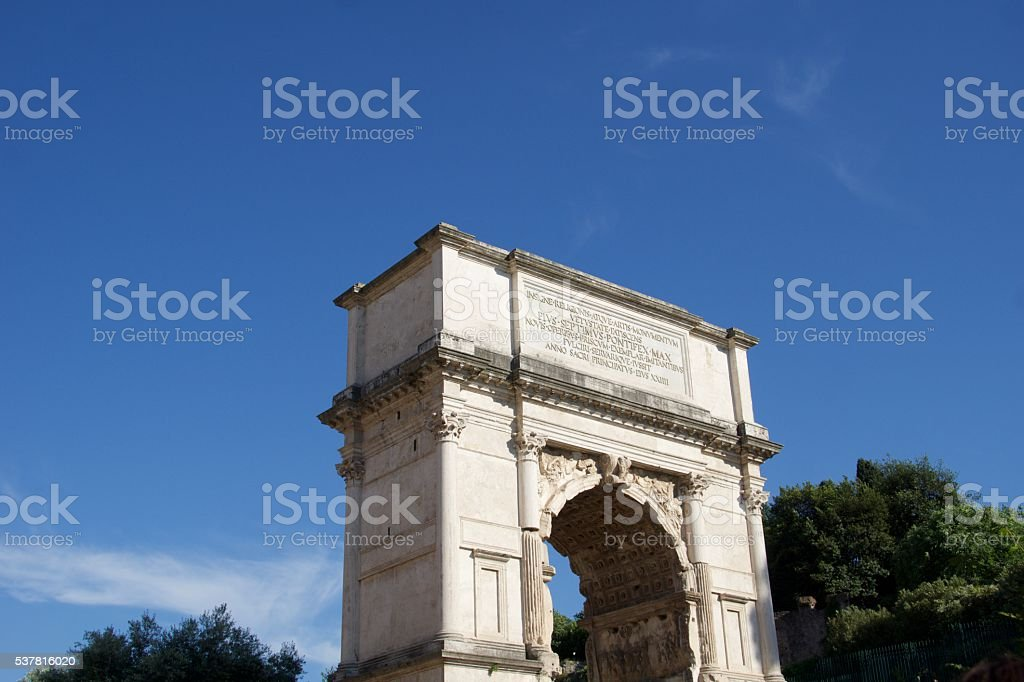 Arch of Titus - Rome, Italy stock photo