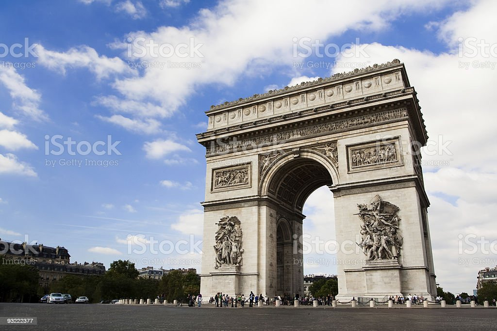 Arch of Triumph. Day time stock photo