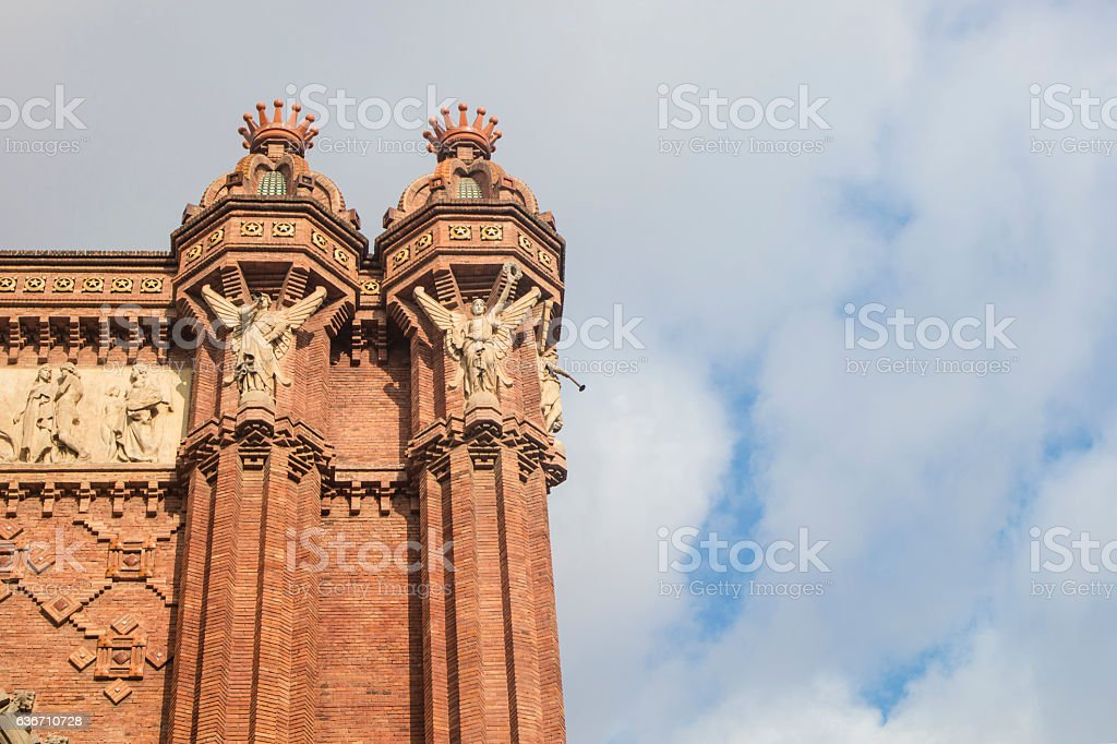 Arch of Triumph, monument located in Barcelona, Catalonia, Spain stock photo