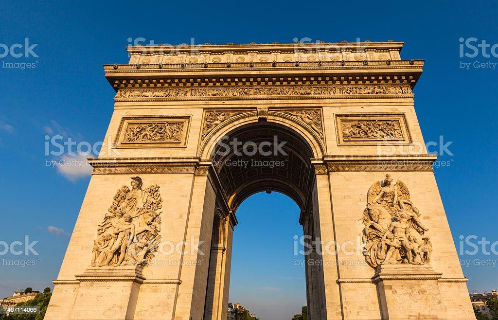 Arch of Triumph of the Star stock photo