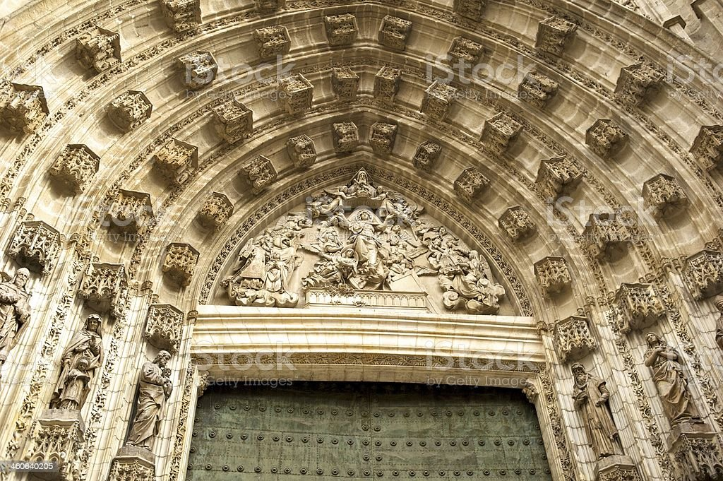 Arch over church door royalty-free stock photo