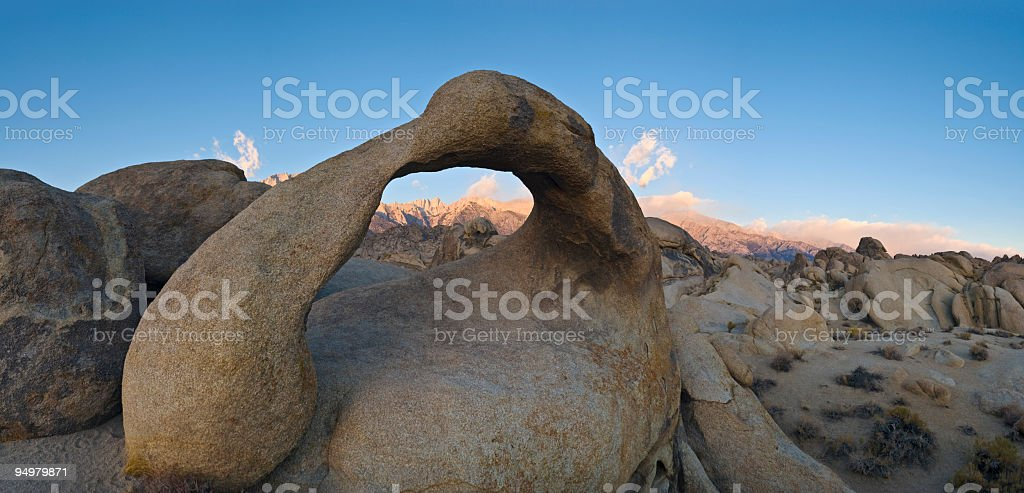 Arch over Sierra sunrise royalty-free stock photo