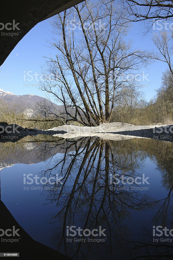 Arch reflection stock photo