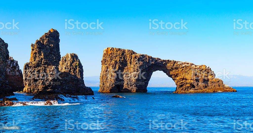 Arch Rock Channel Islands National Park California USA stock photo