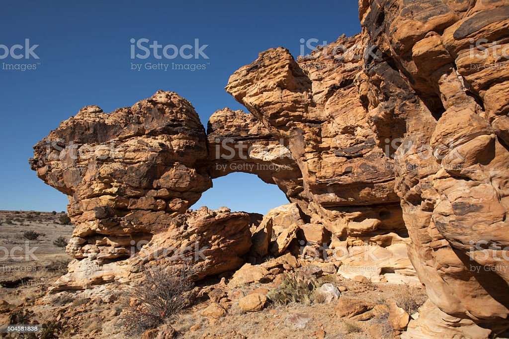 Arch Rock Picture Canyon Comanche National Grasslands southeast Colorado stock photo