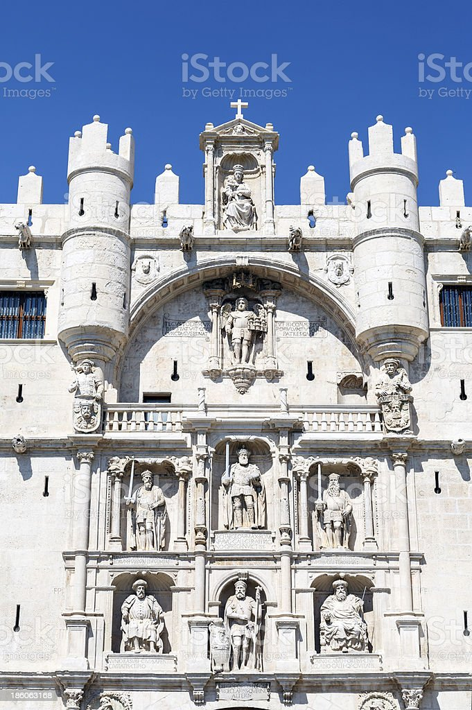 Arch Santa Maria gateway to the city of Burgos Spain royalty-free stock photo