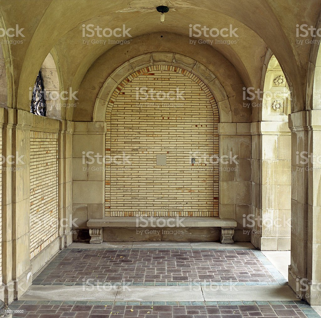 Arch space detail at GEH royalty-free stock photo
