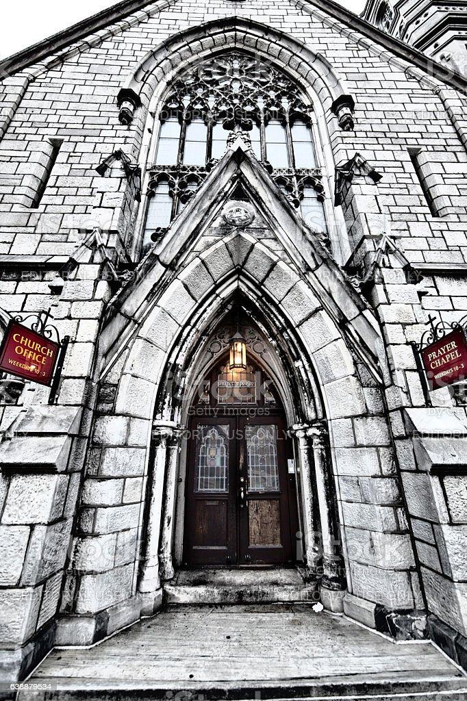 Arch Street United Methodist Church stock photo