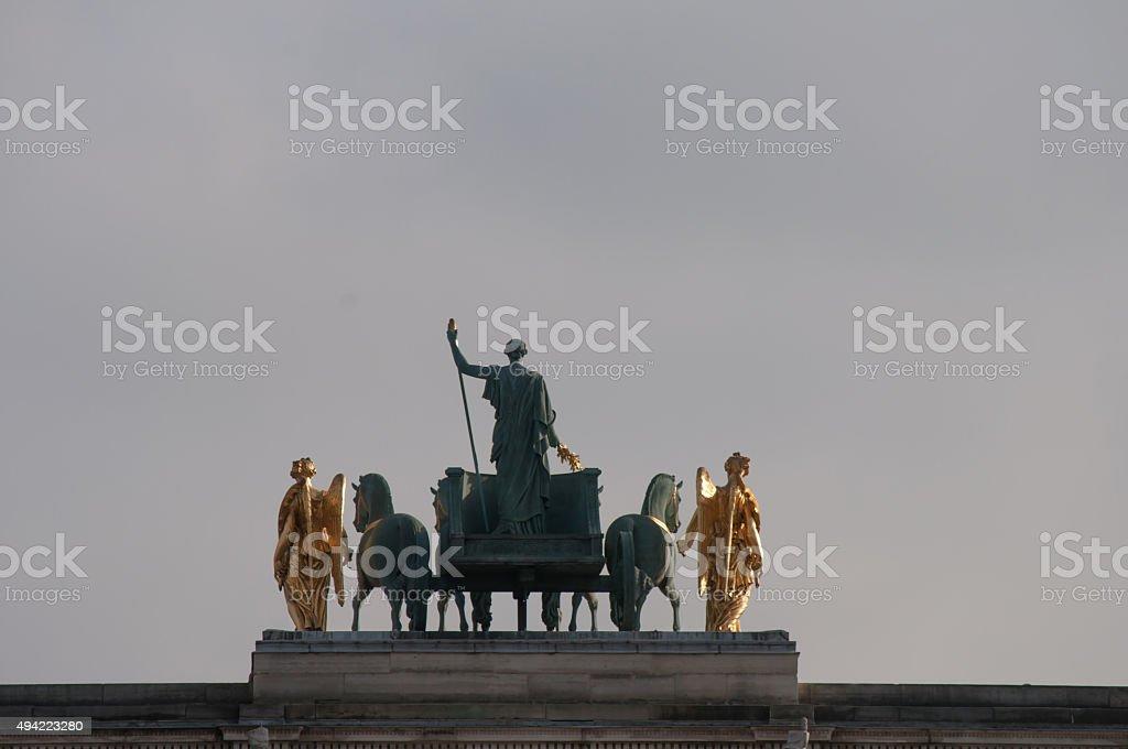 Arch Triumph Carousel in Paris, France. stock photo