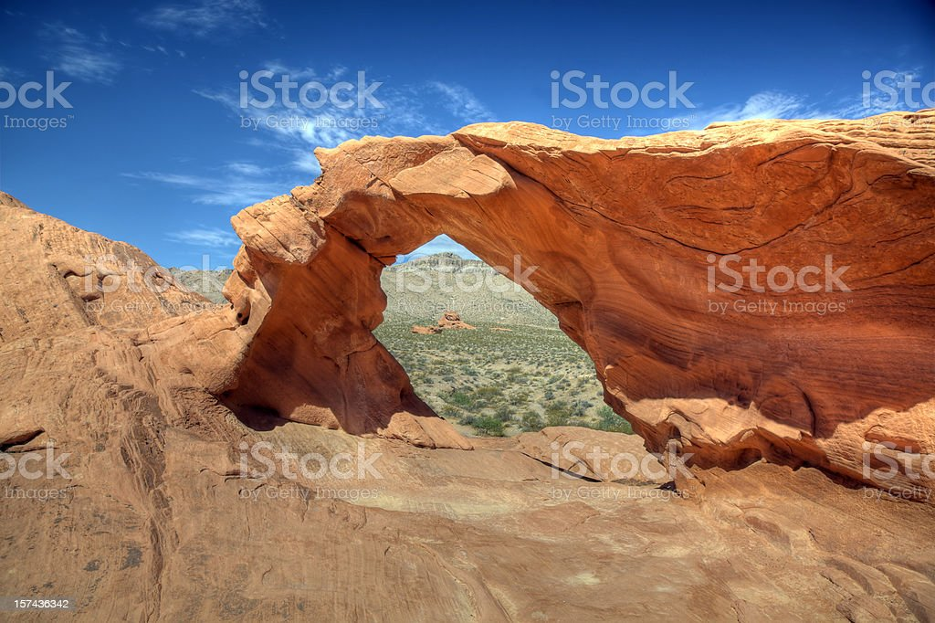 Arch, Valley of Fire. State Park, Nevada royalty-free stock photo