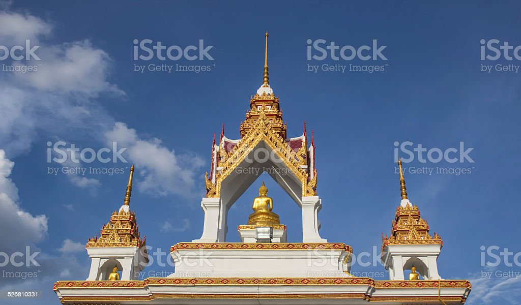 Arch Wat Klang Mueang in Thailand stock photo