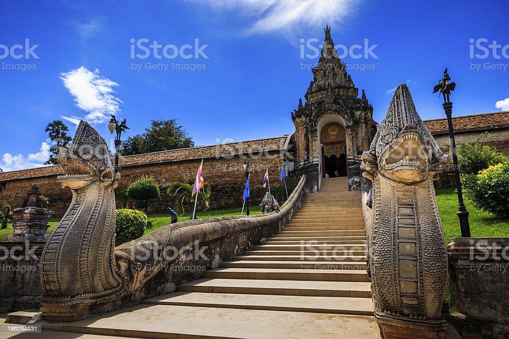 Arch way of Phra That Lampang Luang Thailand royalty-free stock photo