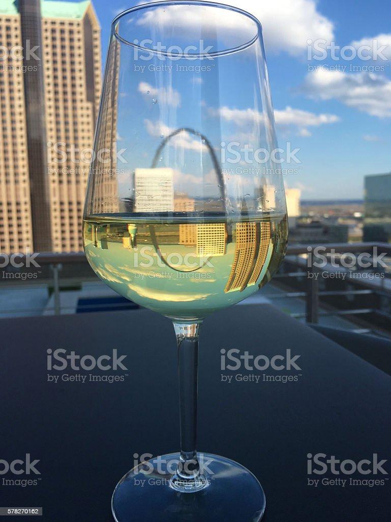 Arch Wine stock photo