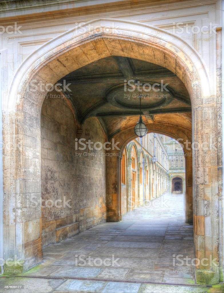 Arch with liner perspective stock photo