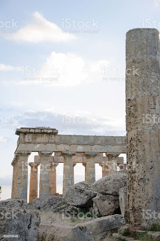 Archaeological area of Selinunte in Sicily stock photo