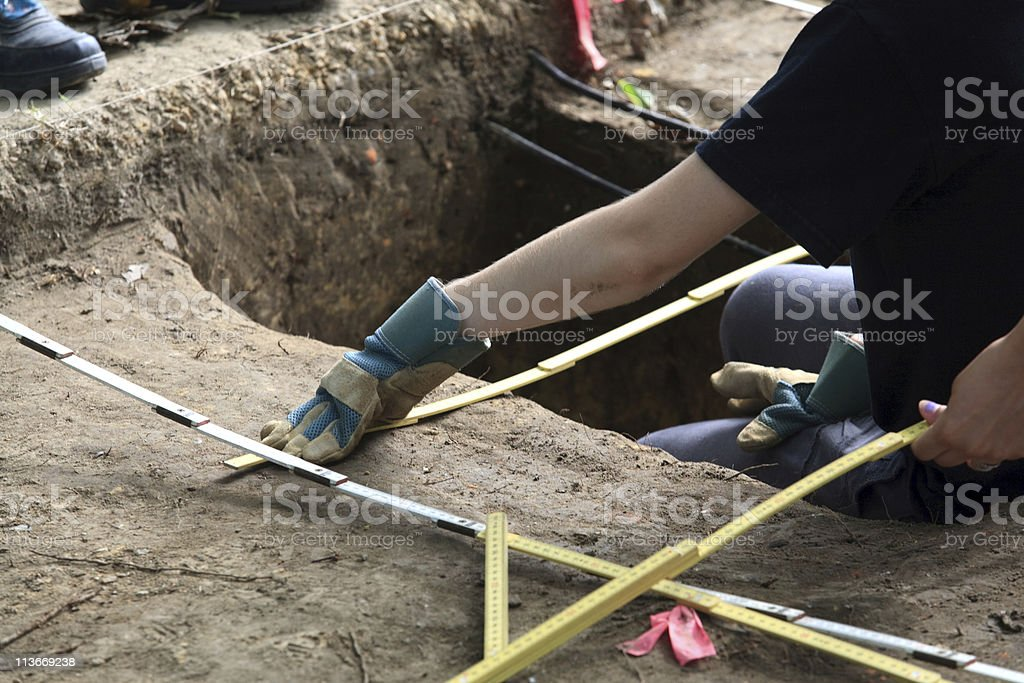 archaeological dig in Williamsburg, Va royalty-free stock photo