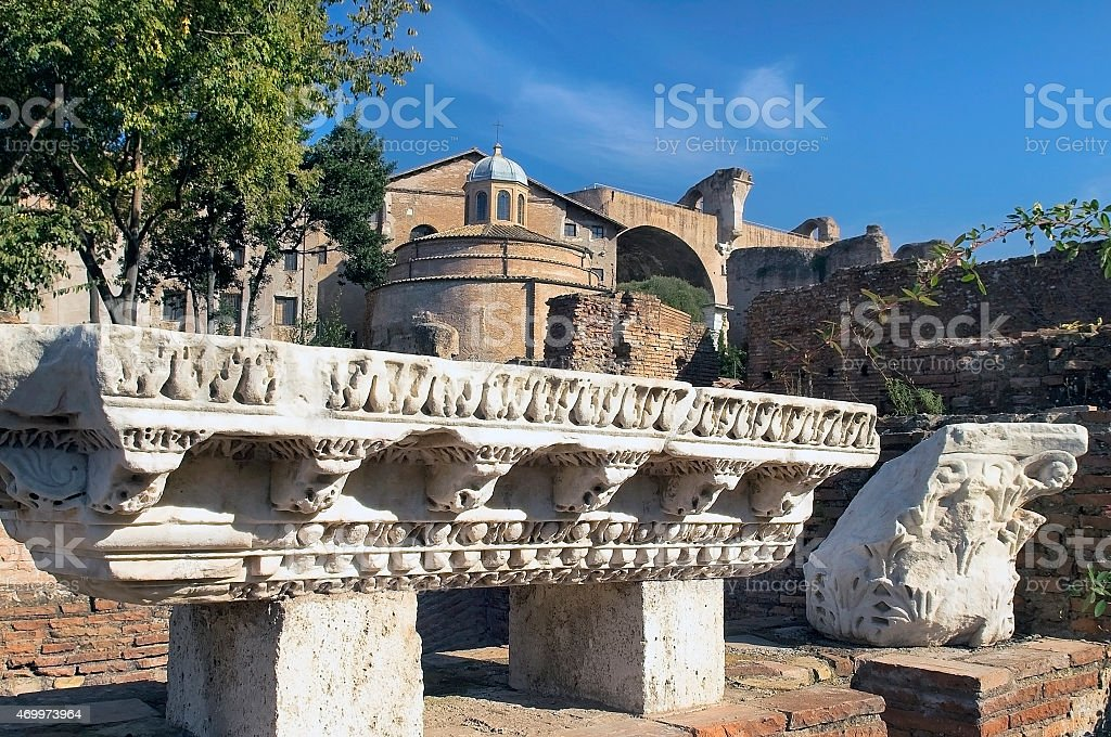archaeological excavations in Rome stock photo