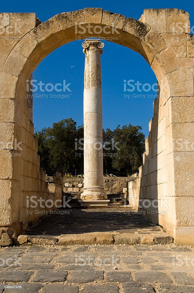 archaeological excavations ,Israel stock photo