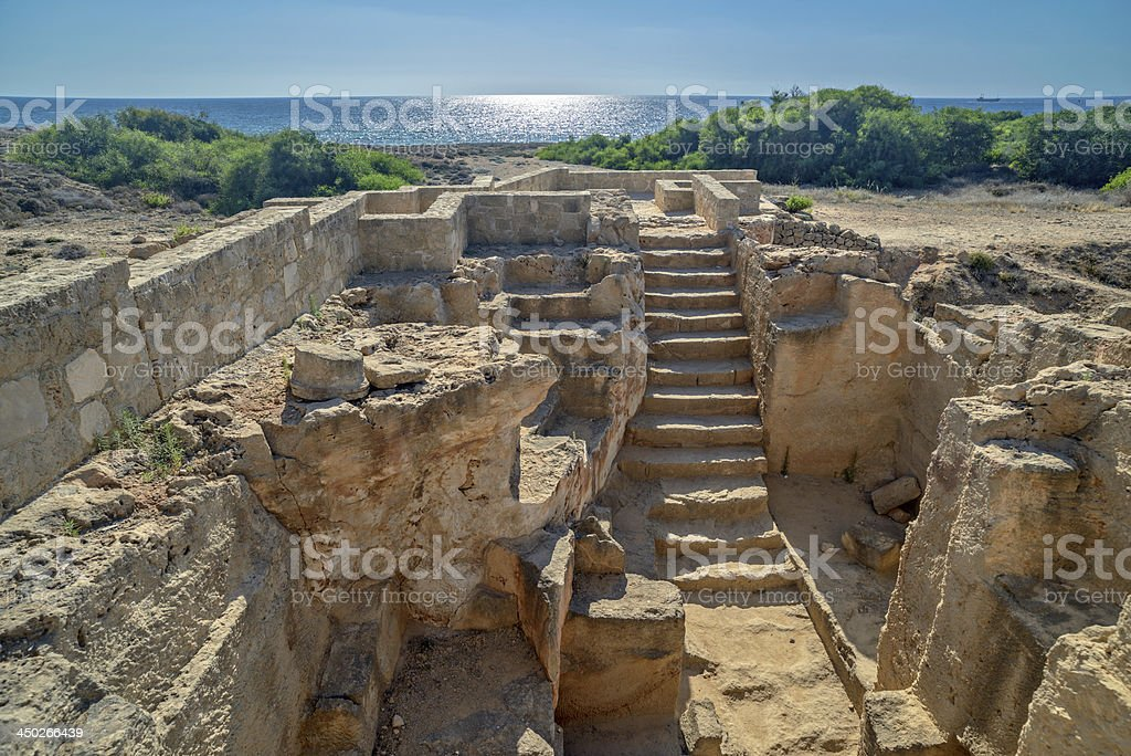 Archaeological museum in Paphos on Cyprus stock photo