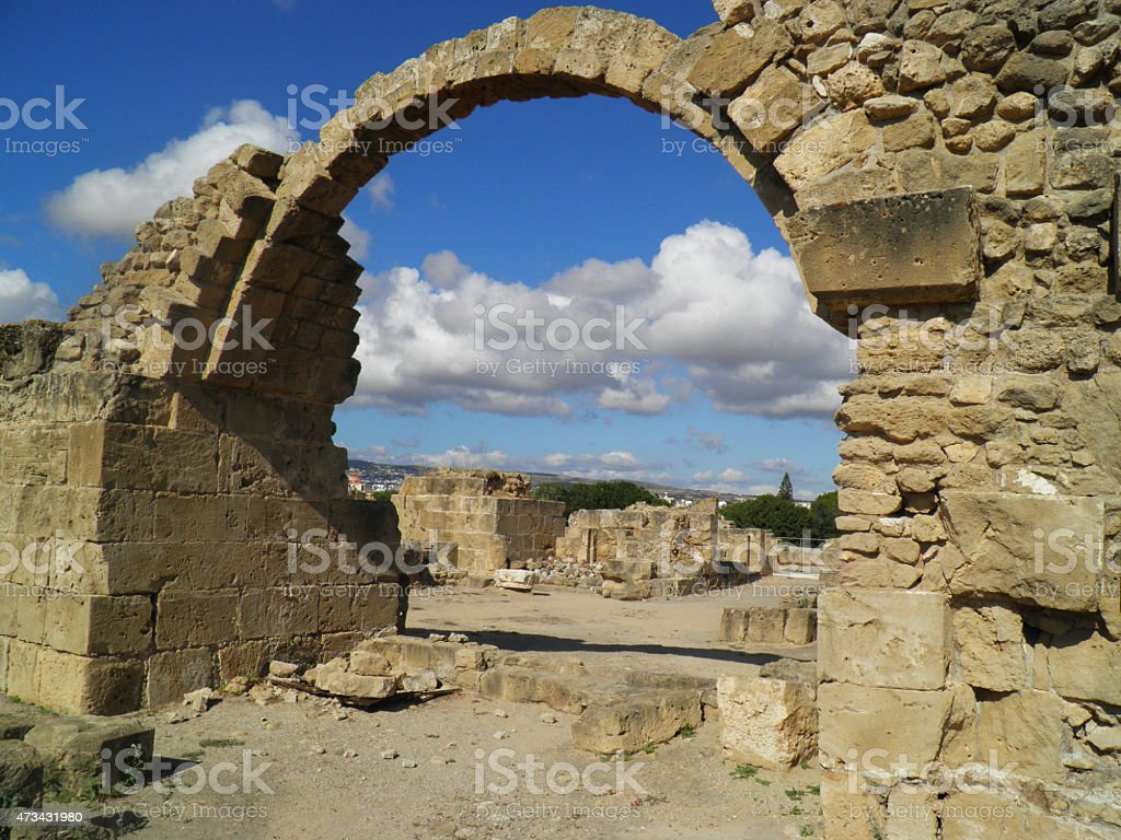 Parque arqueológicos en de Pafos foto de stock libre de derechos