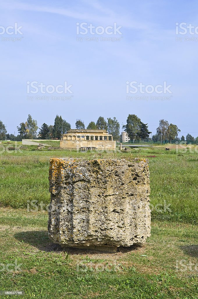 Archaeological Park. Metaponto. Basilicata. Italy. royalty-free stock photo