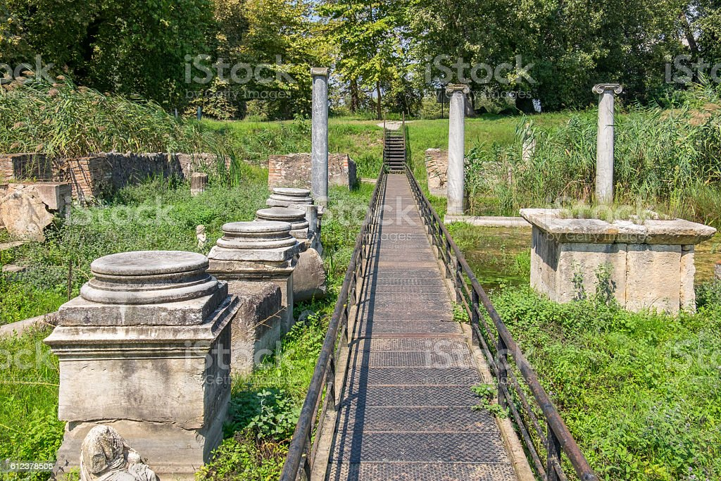 Archaeological Park of Dion. Greece stock photo