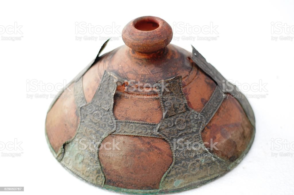 Archaeological pottery stock photo