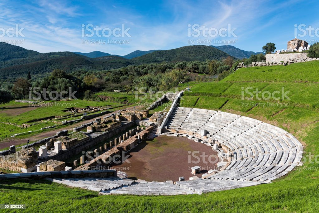 Archaeological site in Greece stock photo