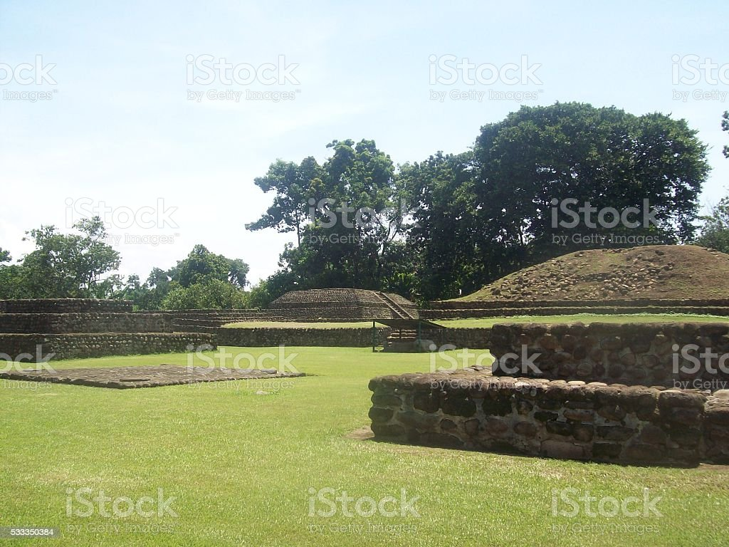 Archaeological site of Izapa in Chiapas, Mexico stock photo
