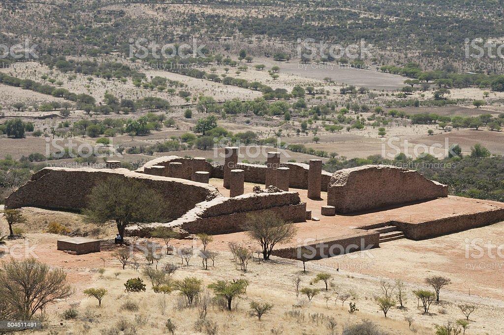 Archaeological site of La Quemada, Zacatecas (Mexico) stock photo