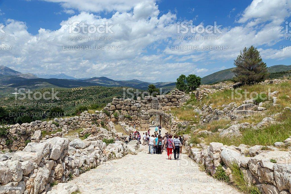 Archaeological site of Mycenae, Greece stock photo